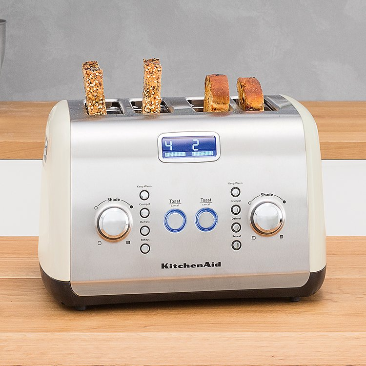 KitchenAid Artisan 4 Slice Toaster Almond Cream