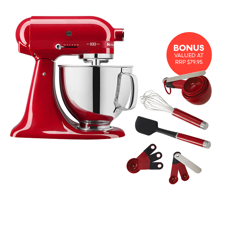 Kitchenaid KSM180 Stand Mixer Queen of Hearts w/ bonus Baking Utensils