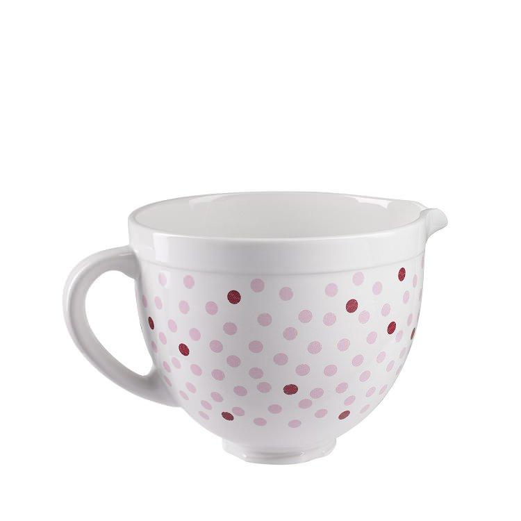 KitchenAid Ceramic Bowl Pink Polka Dot