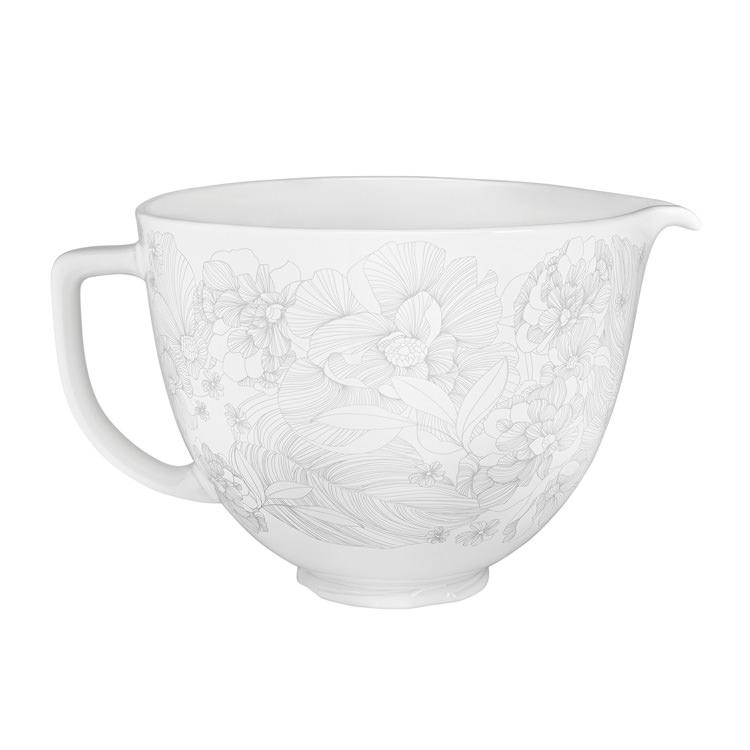 KitchenAid Whispering Floral Ceramic Bowl for Tilt-Head Stand Mixer 4.7L