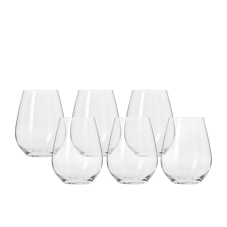 Krosno Harmony Stemless Wine Glass 400ml Set of 6