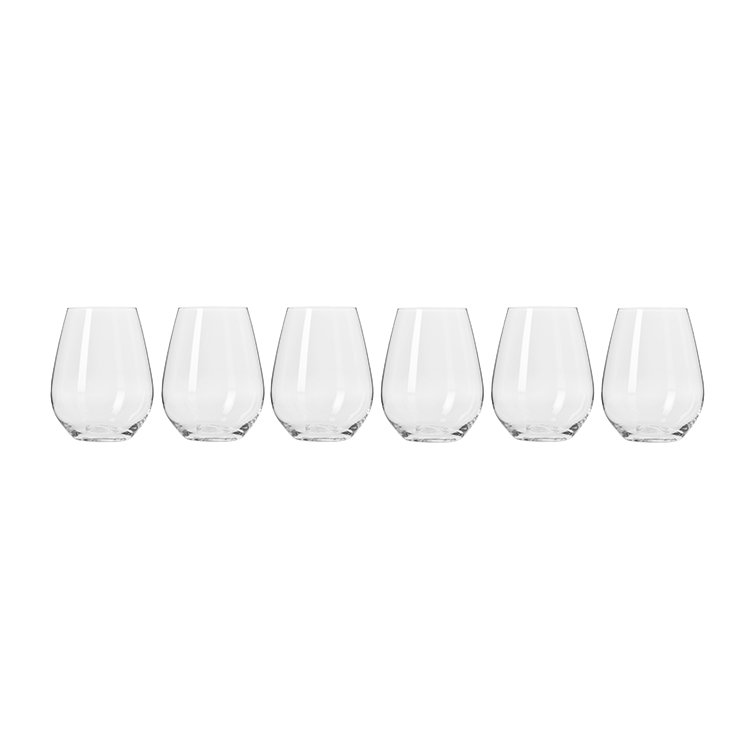 Krosno Harmony Stemless Wine Glass 400ml Set of 6 image #2