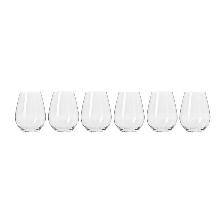 Krosno Harmony Stemless Wine Glass 400ml Set of 6