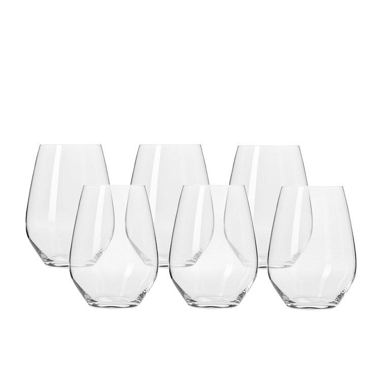 Krosno Harmony Stemless Wine Glass 540ml Set of 6