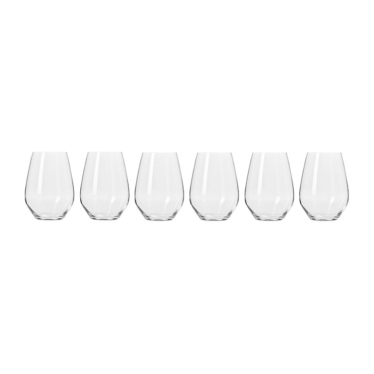 Krosno Harmony Stemless Wine Glass 540ml Set of 6 image #2