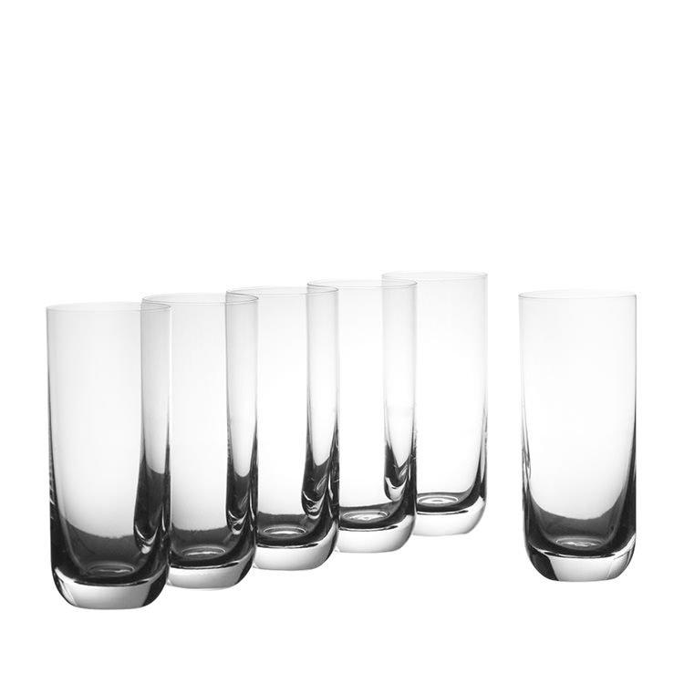 Krosno Pola Hi-Ball Glass 360ml Set of 6