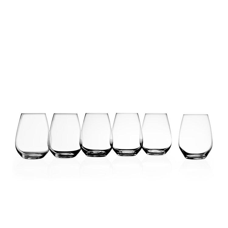 Krosno Vinoteca Stemless Red Wine Glass Set of 6