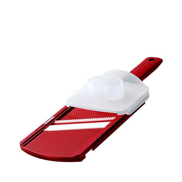 Kyocera Wide Julienne Mandolin Slicer w/ Handguard Red