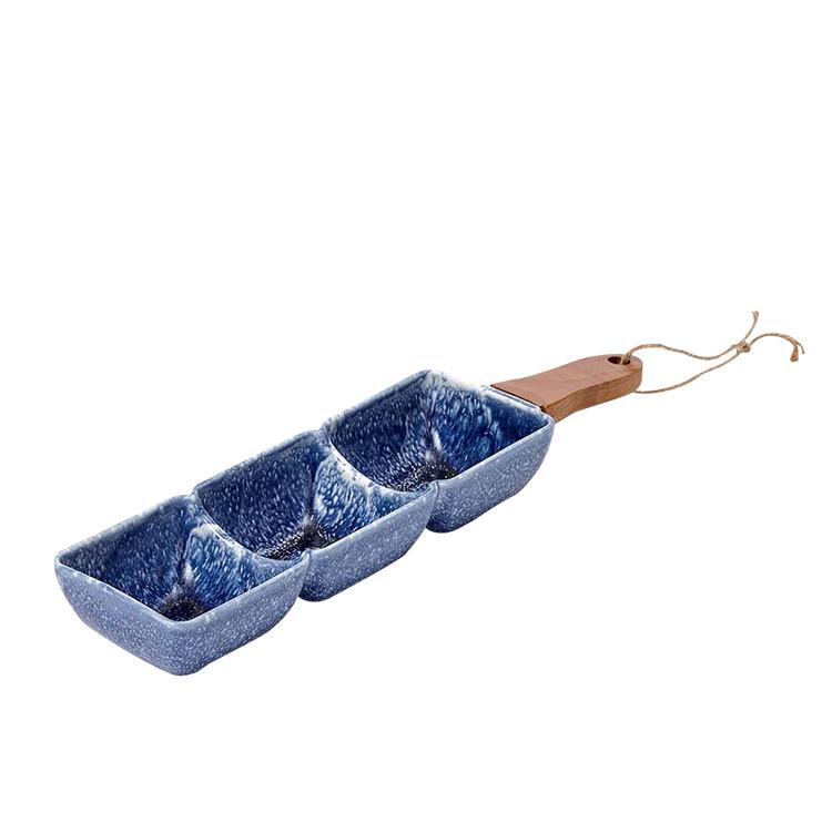 Ladelle Graze 3 Part Square Serve Stick Dusky Blue