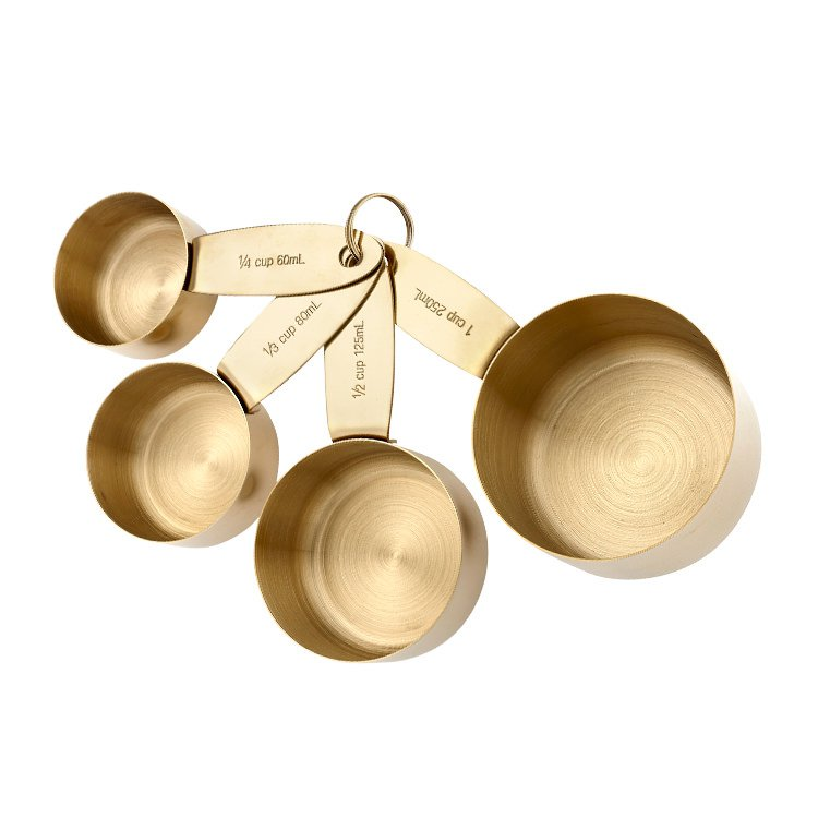 Ladelle Lawson Measuring Cups Gold Set of 4