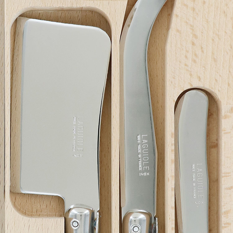 Laguiole by Andre Verdier Debutant Cheese Knife Set 3pc Jardin image #2