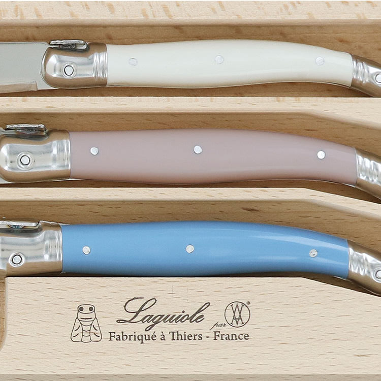 Laguiole by Andre Verdier Debutant Cheese Knife Set 3pc Jardin image #3