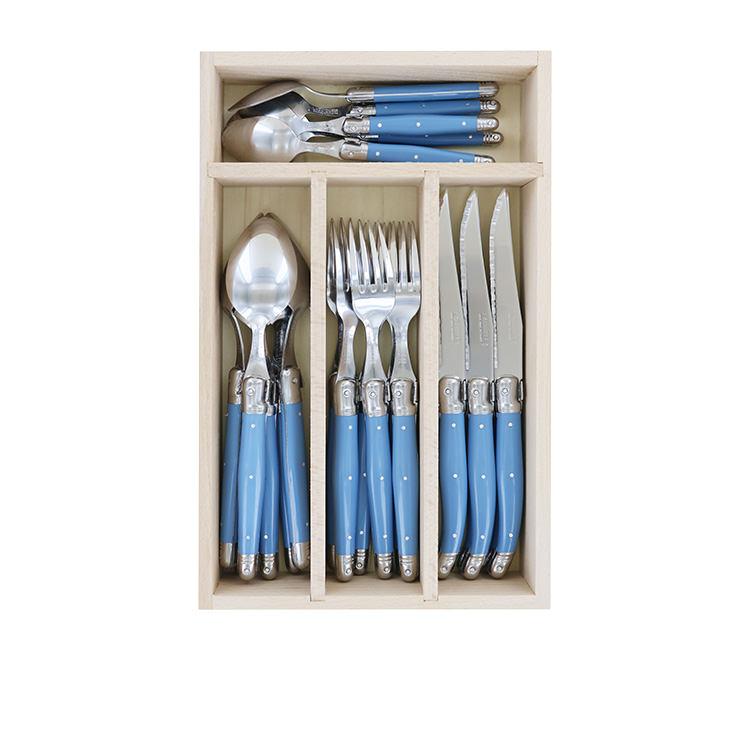 Laguiole by Andre Verdier Debutant 24pc Cutlery Set Cornflower