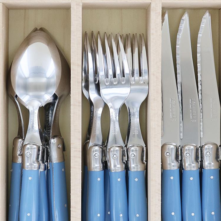 Laguiole by Andre Verdier Debutant 24pc Cutlery Set Cornflower image #2