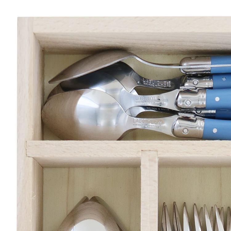 Laguiole by Andre Verdier Debutant 24pc Cutlery Set Cornflower image #3