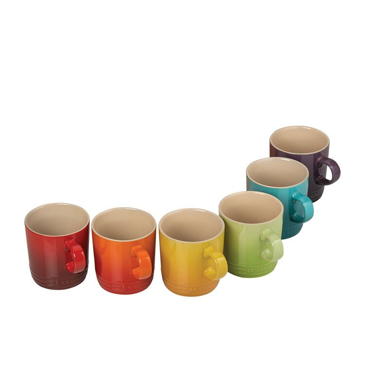 Le Creuset Stoneware Mug 350ml Set of 6 Rainbow
