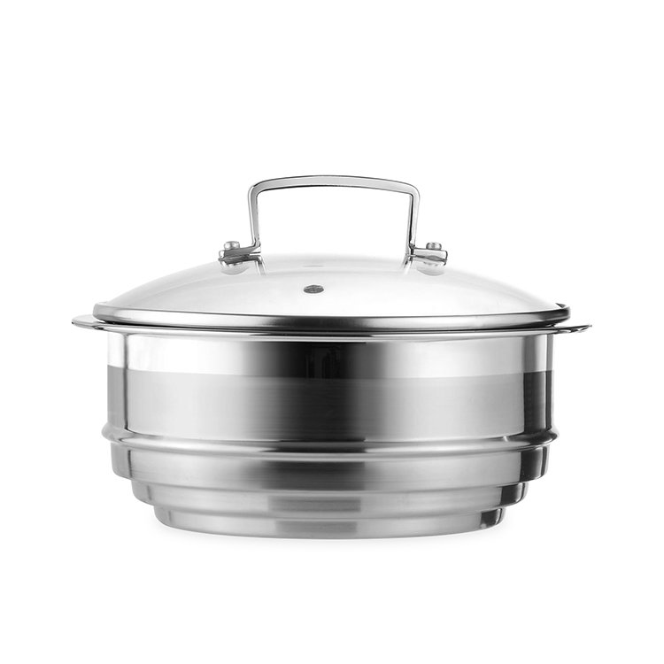 Le Creuset 3-Ply Stainless Steel Multi Steamer with Glass Lid image #2