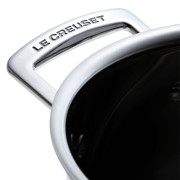 Le Creuset 3-Ply Stainless Steel Saucepan with Lid 18cm - 2.8L image #2
