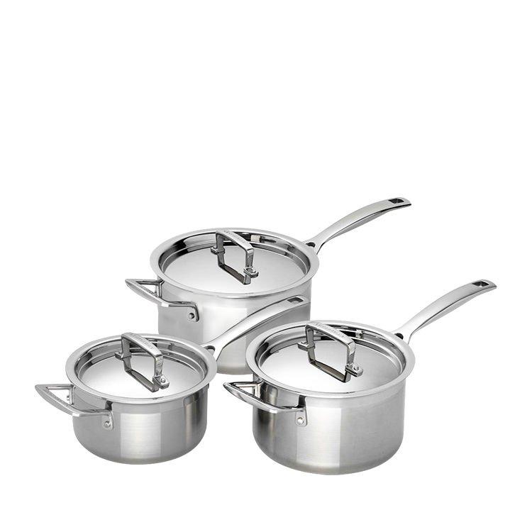Le Creuset 3-Ply Saucepan Set 3pc