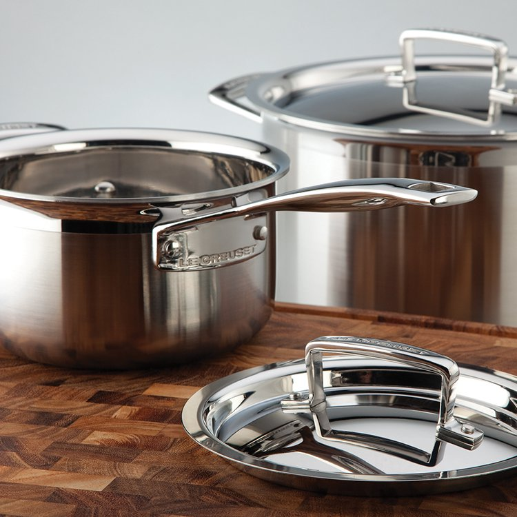 Le Creuset 3-Ply Stainless Steel Saucepan with Lid 18cm - 2.8L image #6