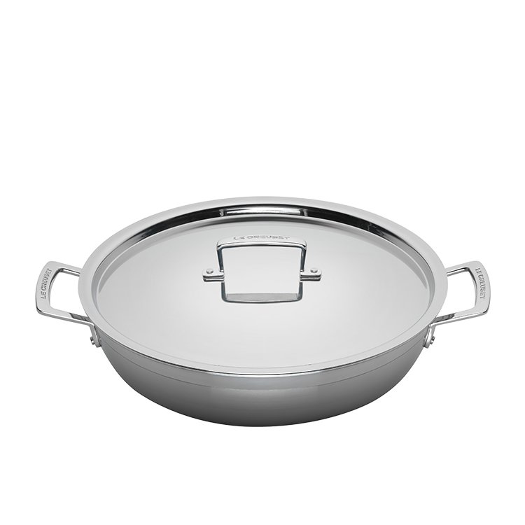 Le Creuset 3-Ply Stainless Steel Shallow Casserole 30cm - 4.8L