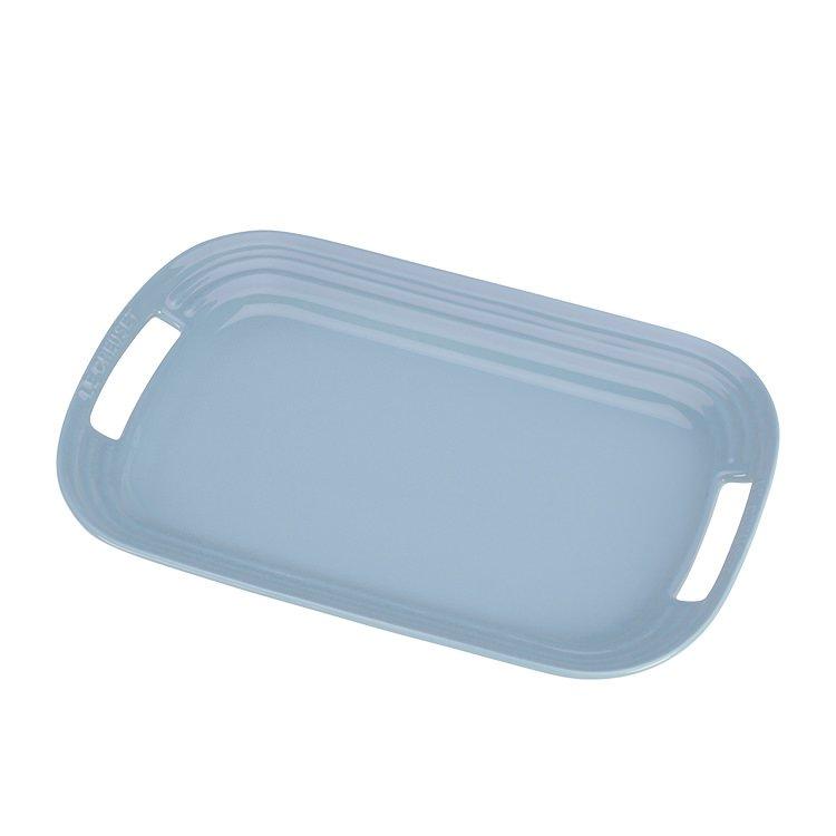 Le Creuset Stoneware BBQ Platter 36cm Coastal Blue