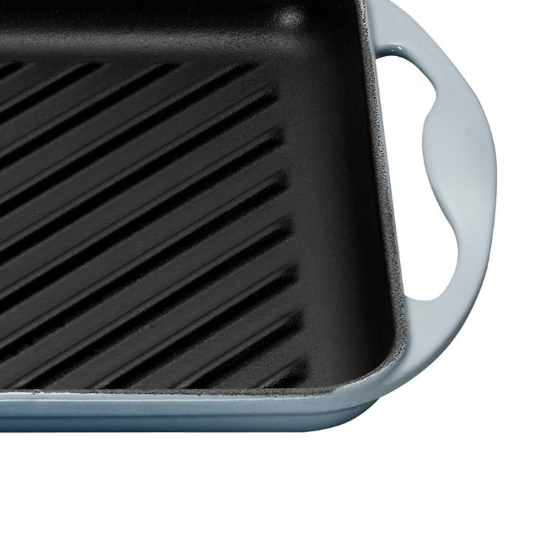 Le Creuset Cast Iron Rectangular Grill 32.5cm Coastal Blue