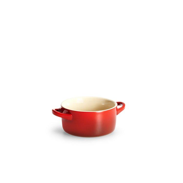 Le Creuset Stoneware Mini Round Casserole 9cm Cerise