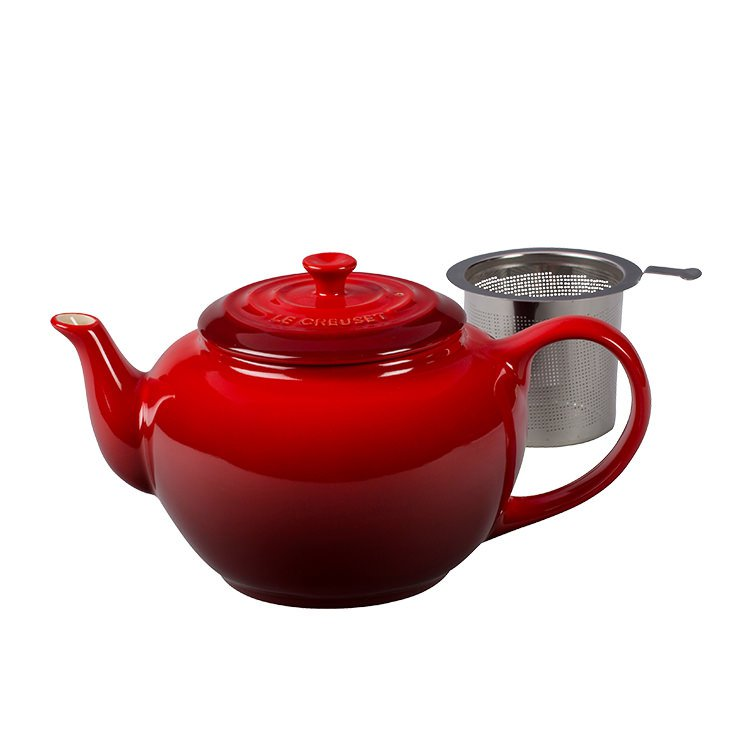 Le Creuset Classic Teapot w/ Stainless Steel Infuser 1.3L Cerise