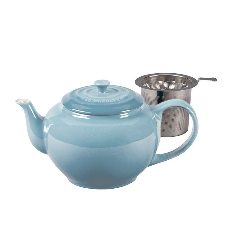 Le Creuset Classic Teapot w/ Stainless Steel Infuser 1.3L Coastal Blue