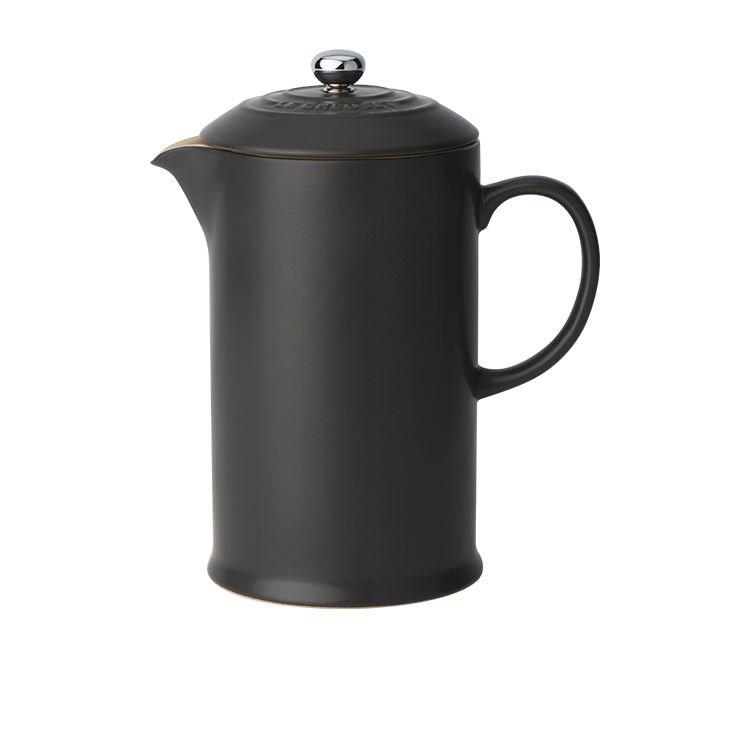 Le Creuset Stoneware French Coffee Press 800ml Satin Black