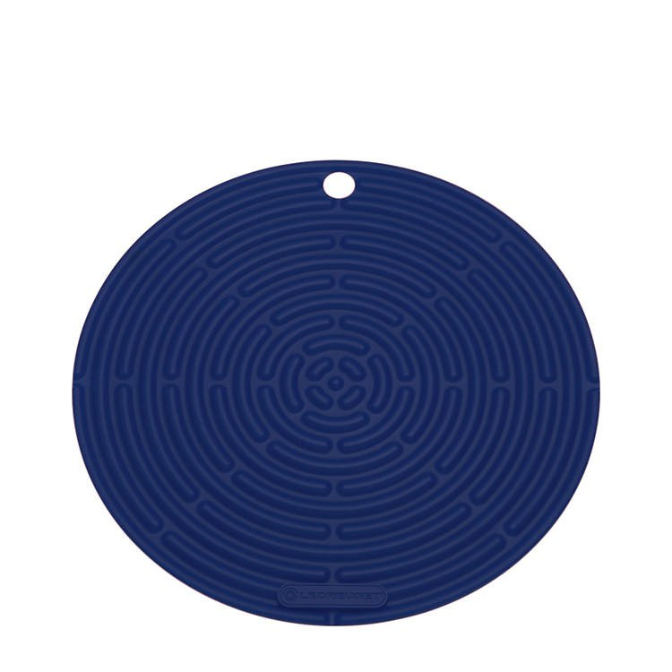 Le Creuset Silicone Cool Tool Round Mat 20cm Marseille Blue