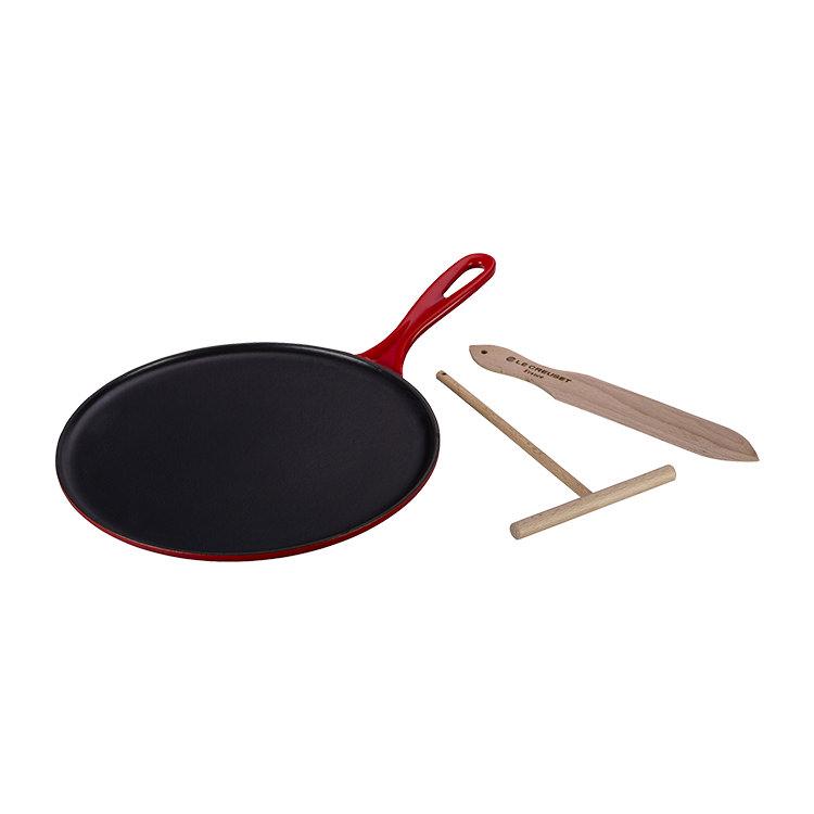 Le Creuset Cast Iron Crepe Pan 27cm Cerise