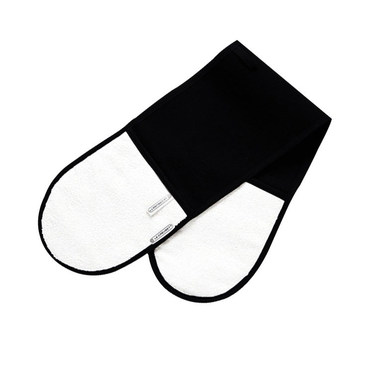 Le Creuset Double Oven Glove Satin Black