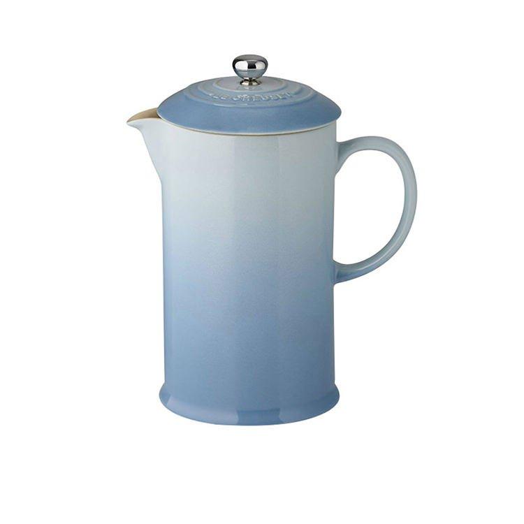 Le Creuset Stoneware French Coffee Press 800ml Coastal Blue