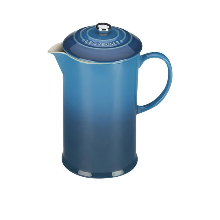 Le Creuset Stoneware French Coffee Press 800ml Marseille Blue