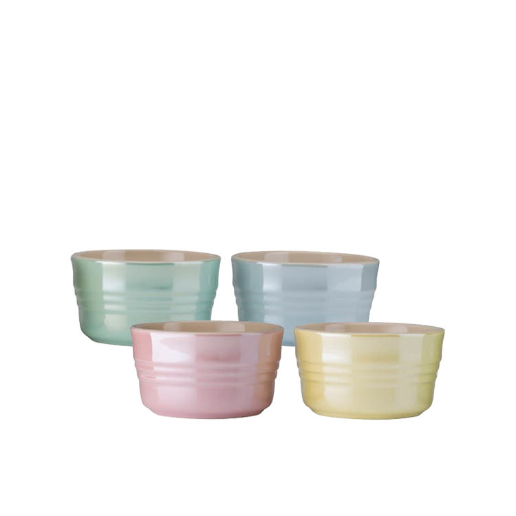 Le Creuset Glace Stoneware Mini Ramekin Set of 4