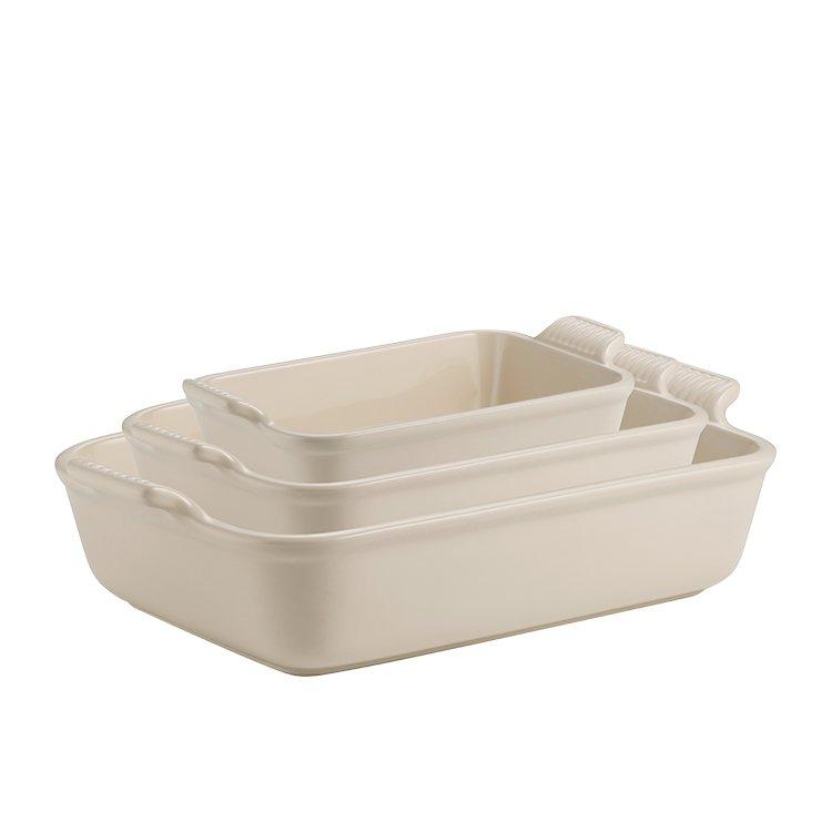 Le Creuset Stoneware Heritage Rectangular Dish 32cm - 3.8L Creme