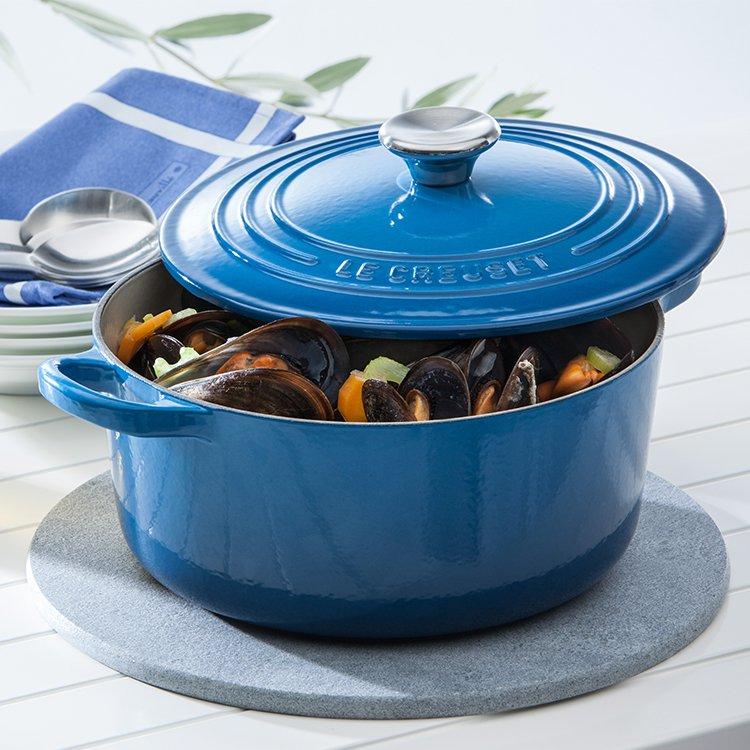 Le Creuset Signature Cast Iron Round Casserole 28cm - 6.7L Marseille Blue