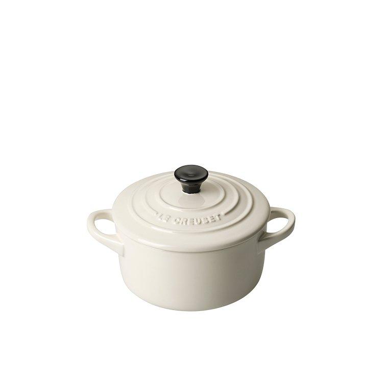 Le Creuset Stoneware Mini Round Casserole 9cm Creme