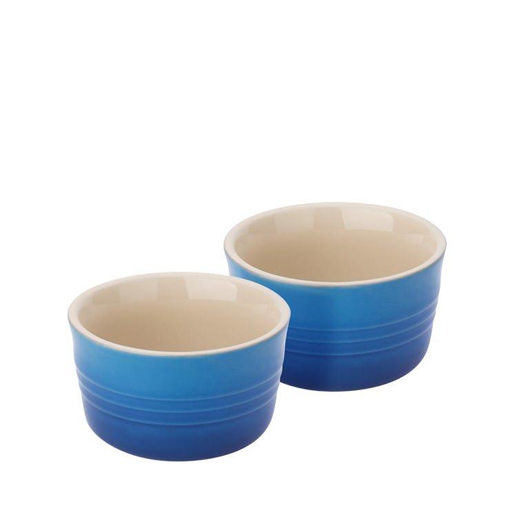 Le Creuset Stoneware Ramekins Set of 2 Marseille Blue