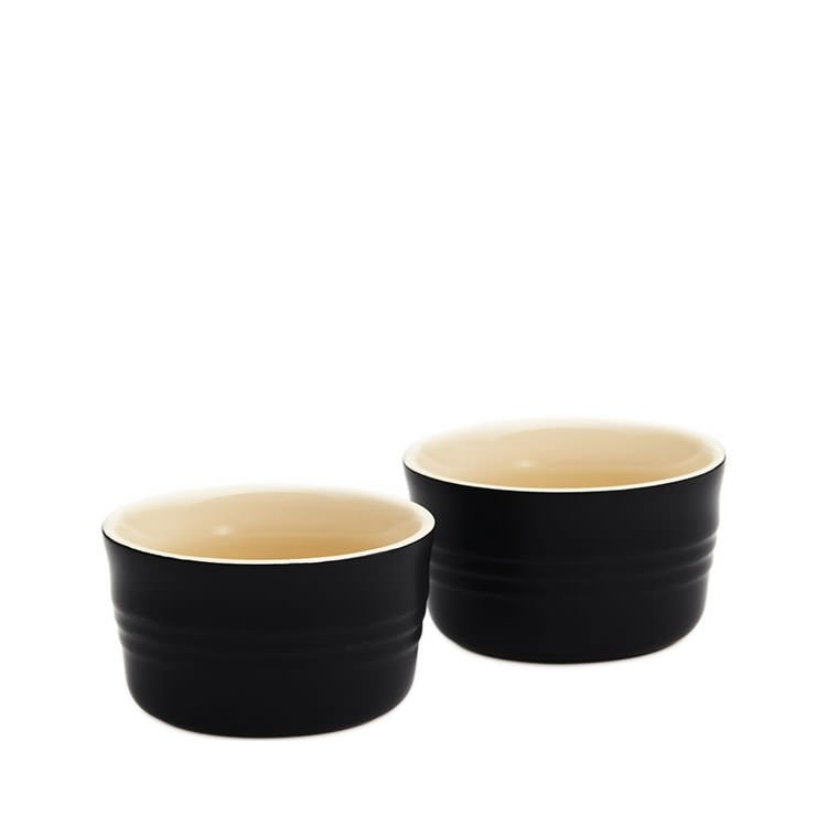 Le Creuset Stoneware Ramekins Set of 2 Satin Black