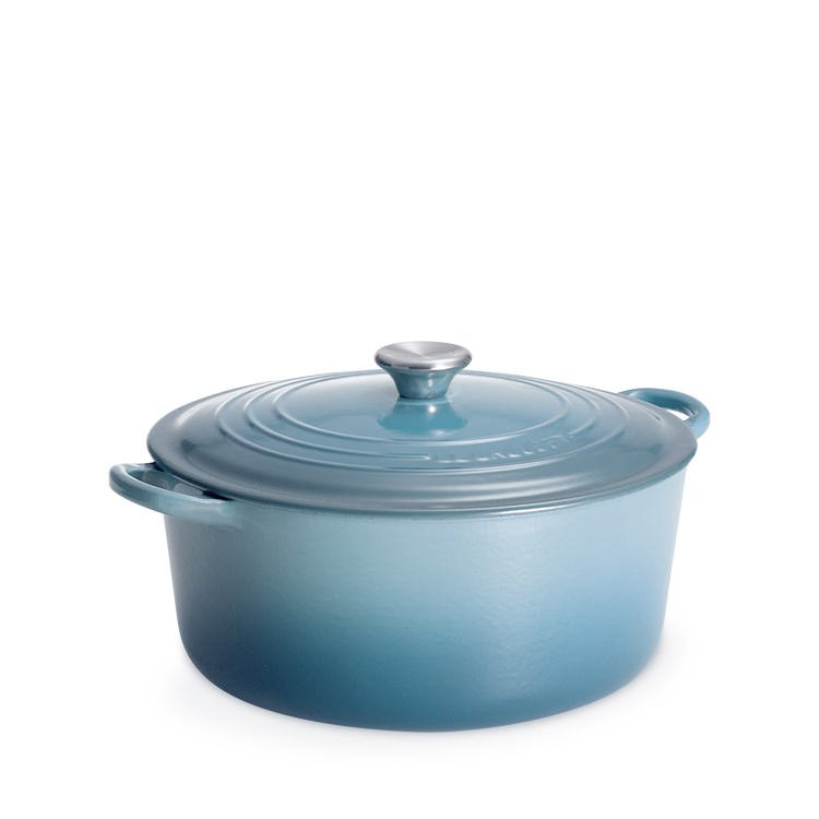Le Creuset Round French Oven 24cm - 4.2L Coastal Blue