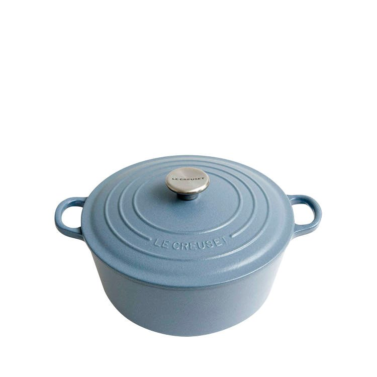 Le Creuset Round French Oven 24cm - 4.2L Mineral Blue