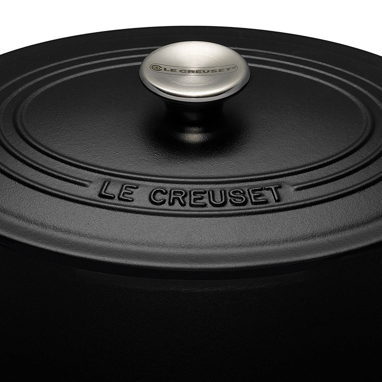 Le Creuset Signature Cast Iron Oval Casserole 27cm - 4.1L Satin Black