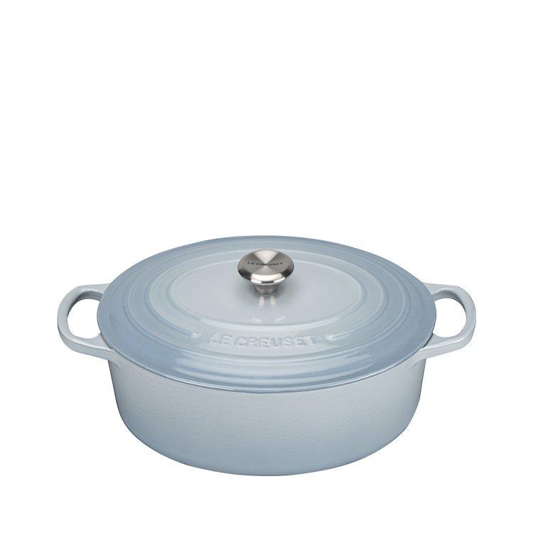 Le Creuset Signature Oval French Oven 27cm - 4.1L Coastal Blue