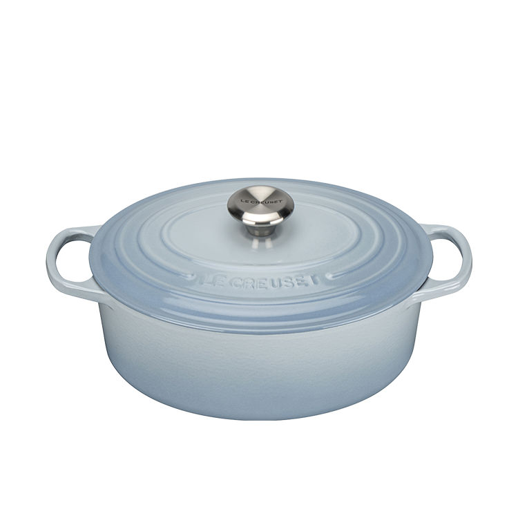 Le Creuset Signature Cast Iron Oval Casserole 29cm - 4.7L Coastal Blue