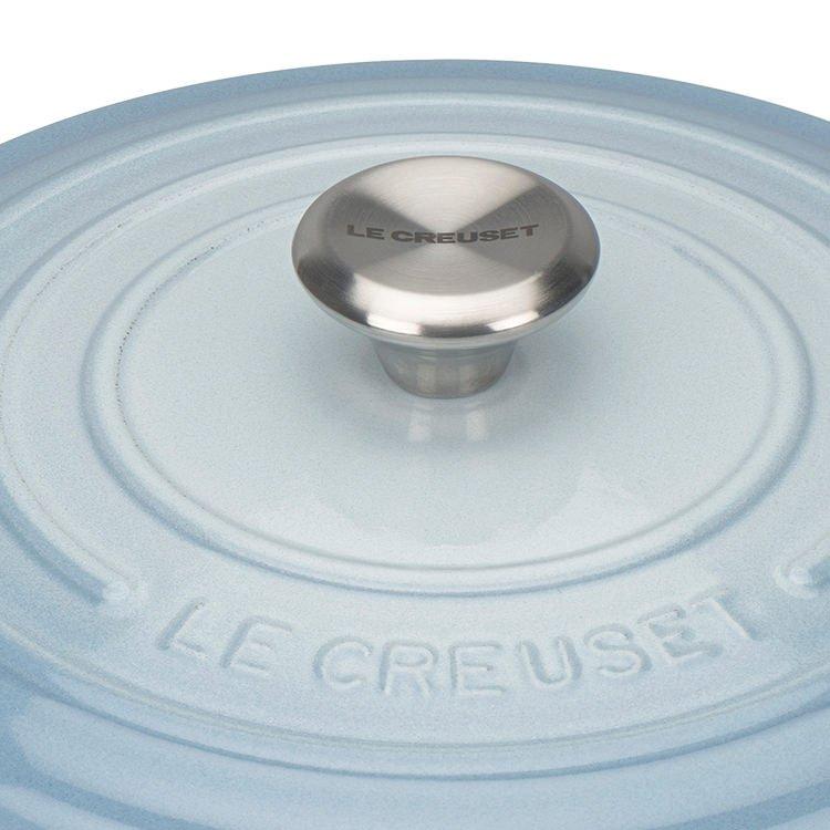 Le Creuset Signature Cast Iron Round Casserole 28cm - 6.7L Coastal Blue