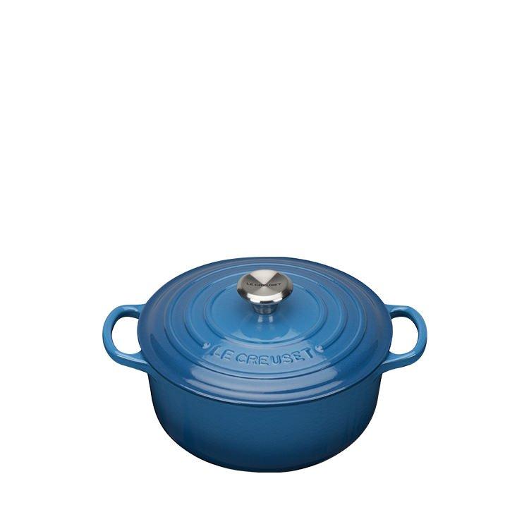 Le Creuset Signature Round French Oven 20cm - 2.4L Marseille Blue