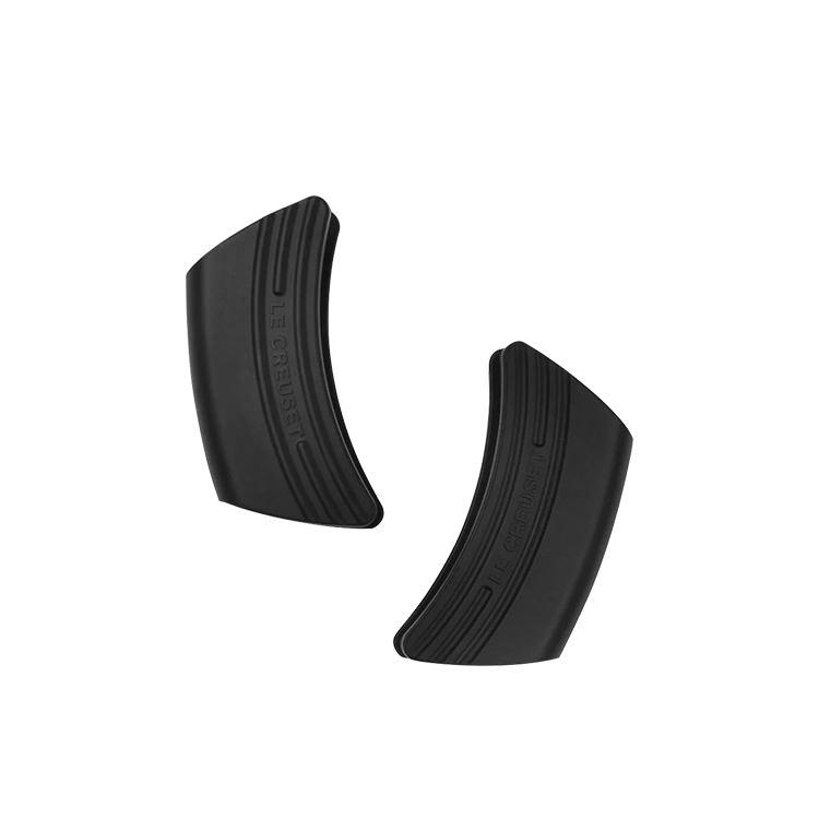 Le Creuset Silicone Handle Grip Set of 2 Black